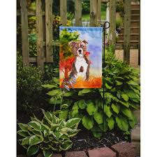 fall staffordshire bull terrier 2 sided