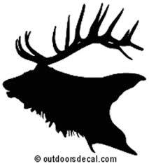 Elk Decal 1 Md Wildlife Window Decals And Stickers Wildlife Decal