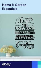 Music Gives Soul To The Universe Vinyl Decal Wall Sticker Words Lettering Decor Wall Stickers Words Vinyl Wall Decals Wall Decals