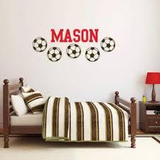 Soccer Name Wall Decal For Kids Soccer Decal Db165 Designedbeginnings