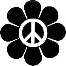 Peace Sign Emblem Daisy Flower Hippy Vw Decal Sticker Pick Your Color Hippie Sticker Hippie Decals Peace Sign Art