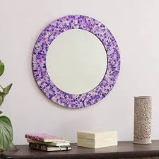 round wall mirror and frame handcrafted