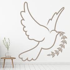 Dove Olive Branch Bird Wall Decal Sticker Ws 18408 Ebay