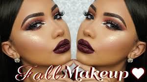 fall dark burgundy makeup tutorial