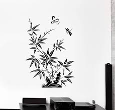Wall Decal Reed Butterfly Dragonfly Beautiful Oriental Vinyl Stickers Wallstickers4you