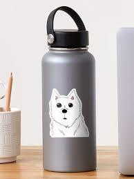Cute Samoyed Dog Sticker By Felixlp Redbubble
