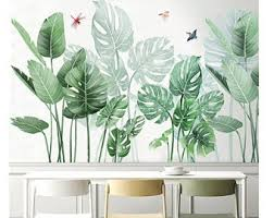 Plant Wall Decal Etsy