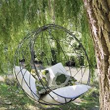 hanging garden seats and hammocks