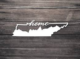 Tennessee Home Decal Tn Mountains Home Script Tn Etsy Car Decals Mountain Decal Tennessee