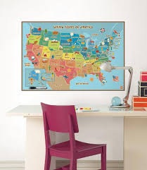 Kids Usa Map Wall Decal Sticker Wall Decal Allposters Com