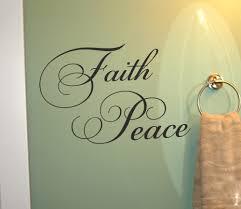 Faith And Peace Cursive