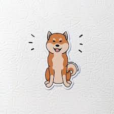 Shiba Inu Magnet Vinyl Car Decal Kitchen Magnet Waterproof Stickers Shiba Inu Shiba