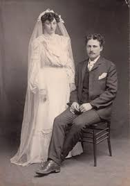 Photos: BURT, Robert Hutchison (1879-1916)-with spouse: Maud Myrtle GRAHAM  (1884-1960), wedding picture, 01 Jan 1904 at Lopez Island, San Juan, WA,  USA.: Our Family Genealogy