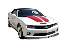 Decal Kit Convertible Rally Stripe With W O Rs Spoiler Black Camaro
