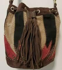 imoshion brown boho leather fringe