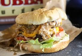 double caramelized onion burger