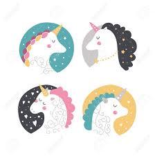 Vector Bebe Unicornio Ilustracion Infantil Para Las Impresiones