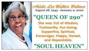 Addie Holmes - Obituary