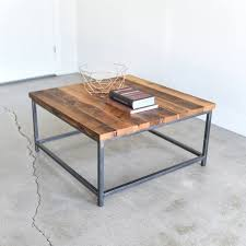 industrial square coffee table rustic