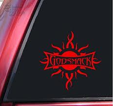 Shadowmajik Godsmack Vinyl Decal Sticker 6 X 5 8 Red Amazon In Car Motorbike