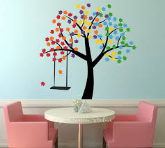 Rainbow Decal Tree Wall Sticker Spring By Getcreativestudios Rainbow Wall Decal Rainbow Decal Tree Wall Stickers