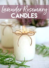 diy candles lavender rosemary candle