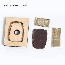 custom logo leather stamp hot brass