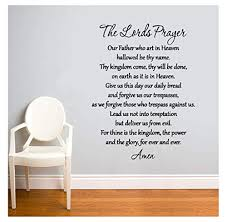 Kodioe Quote Mirror Decal Quotes Vinyl Wall Decals The Lords Prayer Our Father Who Art In Heaven Hallowed Be Thy Name For Living Room Wantitall