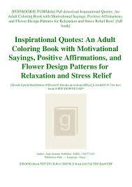 pdf inspirational quotes an adult coloring book motivat