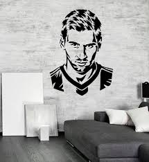 Handsome Football Player Messi Silhouette Wall Decal Home Decoration For Boys Room Vinyl Adhesive Soccer Face Art Decals Wall Stickers Decor Wall Stickers Decoration From Onlinegame 12 66 Dhgate Com