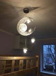 Moon Star Ceiling Light Hanging Lights For Bedroom Kids Room With 5 Lights Star Lights On Ceiling Modern Ceiling Light Pendant Lighting Dining Room