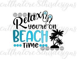 relax you re on beach time vacay palm trees summer flip flops