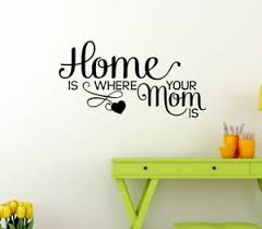 vinyl letters kitchen quotes home is where mom is family wall