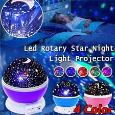 Led Rotating Night Light Projector Starry Sky Star Master Projection Lamp Children S Room Decorated Lights Baby Kids Gift Wish
