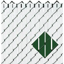 Pexco 4 Ft 46 Ft 4 Ft Top Locking Slats 82 Green Chain Link Fence Privacy Slat In The Chain Link Fence Screens Department At Lowes Com