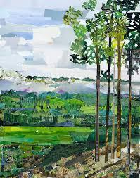Green Collage by janey jones | Saatchi Art
