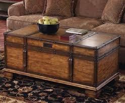 wicker coffee table trunk foter basket
