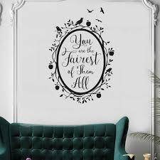 Wall Decal Quote Fairest Of Them All Vinyl Wall Stickers Woodland Mirror Kids Rooms Girl Bedroom Art Mural Removable Flower Wall Decals Flower Wall Sticker From Onlinegame 11 67 Dhgate Com