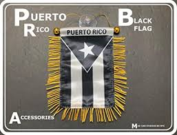 Amazon Com Puerto Rico Flag For Cars Home Flags Puerto Rican Black And White Flag Boricua Car Accessory Small Quality Mini Banner Pr Rearview Mirror Hanging Sticker Decal Accessories Design Style Rich