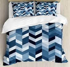 pillow shams zigzag twisty lines print