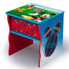 Disney Minnie Mouse Side Table With Storage Kids Room Decor And Furniture Wish