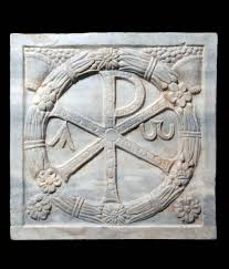 Image result for double cross symbol (chi rho)