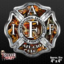 Firefighter Iaff Camo Fire Sticker Vinyl Decal Flag Maltese Cross Fire Fs2074 Ebay