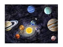 Solar System Art Space Nursery Decor Kids Room Decor Etsy
