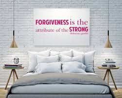 Amazon Com Mahatma Gandhi Wall Decal Quote Forgiveness Is The Attribute Of The Strong Handmade