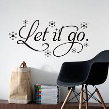 New Qualified Let It Go Kid S Room Snow Vinyl Frozen Wall Sticker Home Wall Words Decor Dec19 Wall Words Decor Frozen Wall Stickerwall Sticker Aliexpress