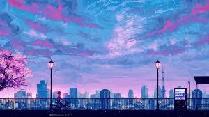 anime cityscape landscape scenery 4k