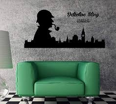 Amazon Com Amazing Vinyl Wall Decal London Sherlock Holmes Detective Unique Wall Decor And Stick Wall Decals Kitchen Dining