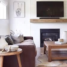 fireplace mantel modern rustic