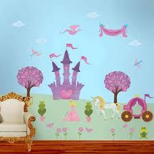 Princess Wall Stickers Stencils Princess Themed Wall Murals